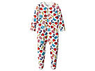 Moschino Kids All Over Logo Heart Print Footie (Infant)