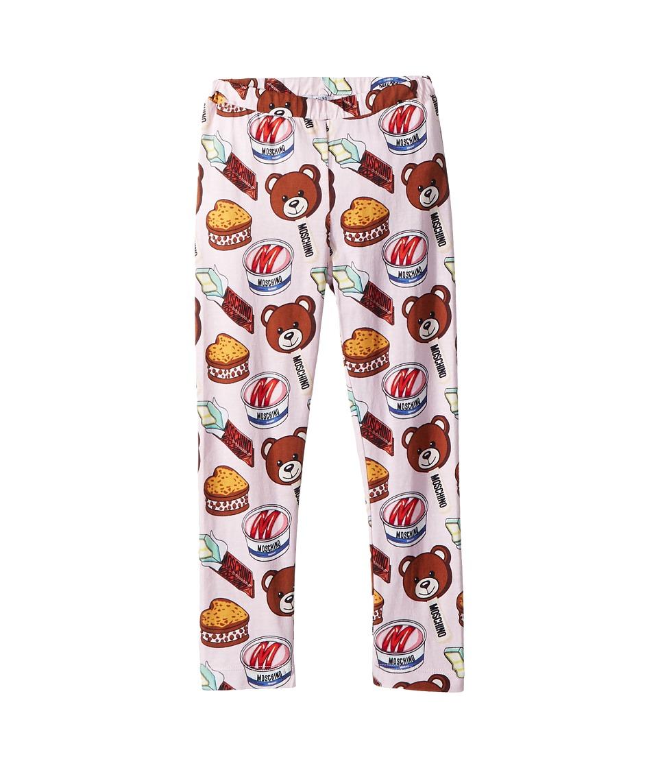 Moschino Kids - Teddy Bear Ice Cream Print Leggings (Infant/Toddler) (Multi) Girls Casual Pants