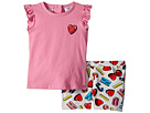 Moschino Kids Logo Heart Graphic T-Shirt Shorts Set (Infant/Toddler)