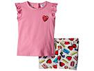 Moschino Kids Moschino Kids Logo Heart Graphic T-Shirt Shorts Set (Infant/Toddler)