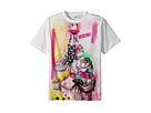 Moschino Kids Short Sleeve Victorian Graffiti Graphic T-Shirt (Little Kids/Big Kids)