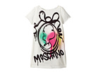 Moschino Kids Short Sleeve Logo Graffiti Graphic Dress (Little Kids/Big Kids)
