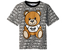 Moschino Kids Short Sleeve All Over Logo Print Teddy Bear Graphic T-Shirt (Little Kids/Big Kids)