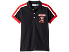 Moschino Kids Short Sleeve Polo w/ Logo Detail on Front (Little Kids/Big Kids)
