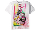 Moschino Kids Short Sleeve Victorian Graffiti Graphic T-Shirt (Big Kids)