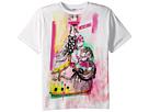 Moschino Kids Short Sleeve Victorian Graffiti Graphic T-Shirt (Big Kids)
