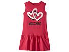 Moschino Kids Sleeveless Heart Logo Graphic Dress (Big Kids)