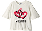Moschino Kids Logo Heart Graphic T-Shirt (Big Kids)