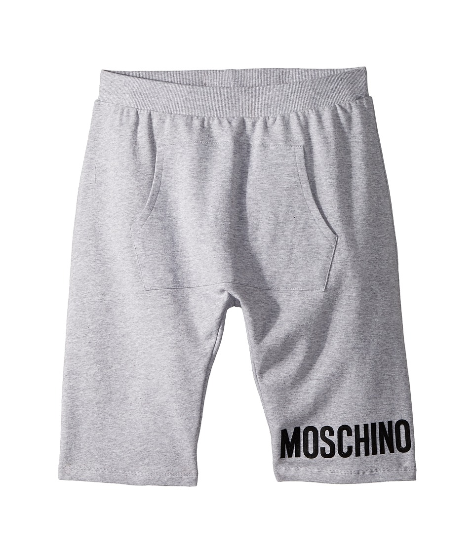 Moschino Kids - Sweatshorts w/ Front Pocket Logo Detail (Big Kids) (Grey) Boys Shorts
