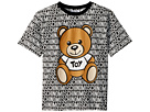 Moschino Kids Short Sleeve All Over Logo Print Teddy Bear Graphic T-Shirt (Big Kids)