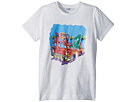 Moschino Kids Short Sleeve Car at Diner Graphic T-Shirt (Big Kids)