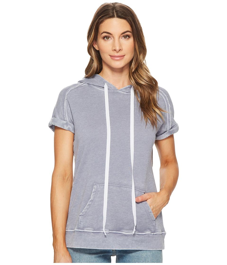 Allen Allen Short Sleeve Hoodie (Sailor Blue) Women