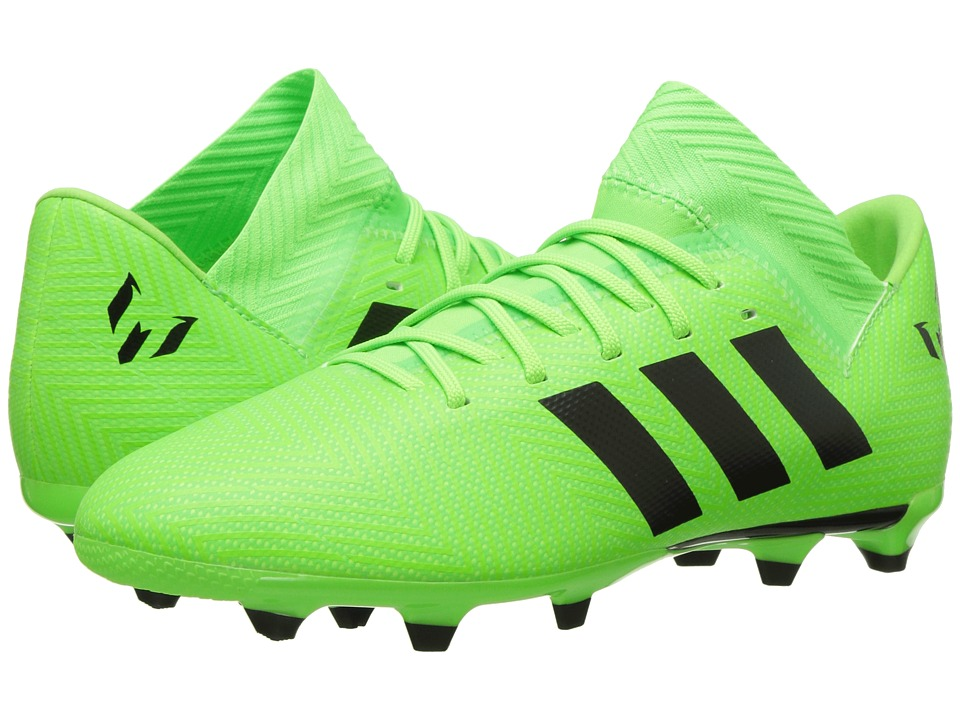 adidas Kids Nemeziz Messi 18.3 FG Soccer (Little Kid/Big Kid) (Zest/Black/Red) Kids Shoes