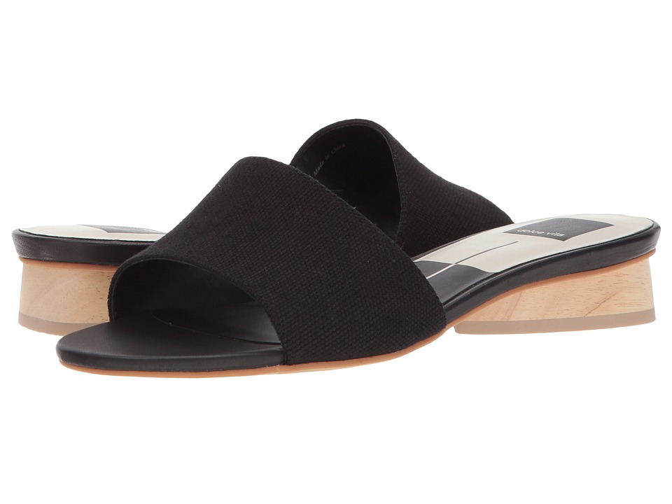 Dolce Vita - Adalea (Black Linen) Womens Shoes