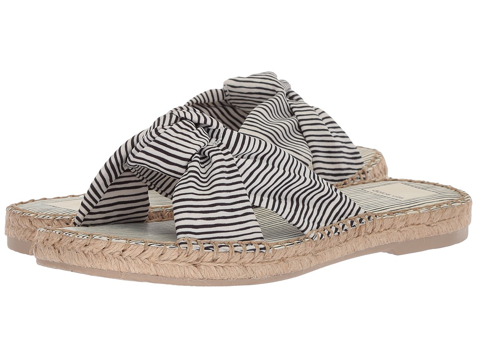 Dolce Vita Benicia (White Stripe Fabric) Women's Shoes