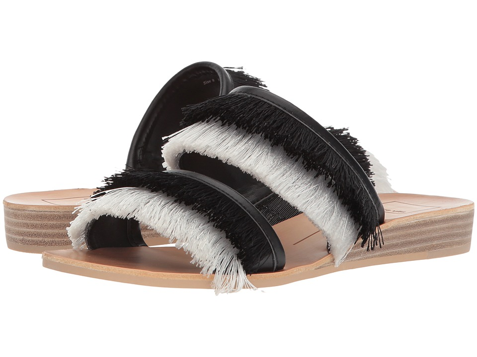 Dolce Vita - Haya (Black/White Fringe) Womens Shoes