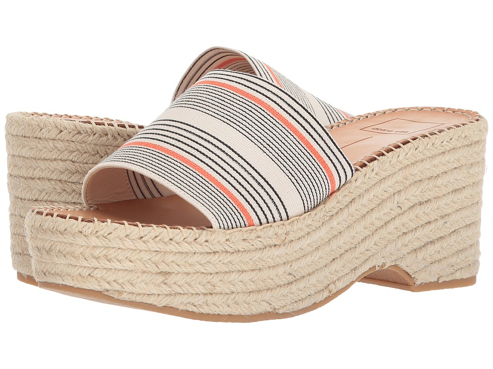 Dolce Vita - Lada (Coral Stripe Elastic) Womens Shoes