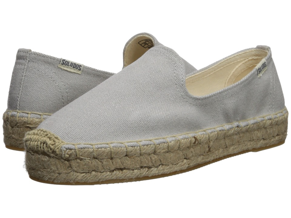 Soludos Platform Smoking Slipper (Gray) Slip-On Shoes
