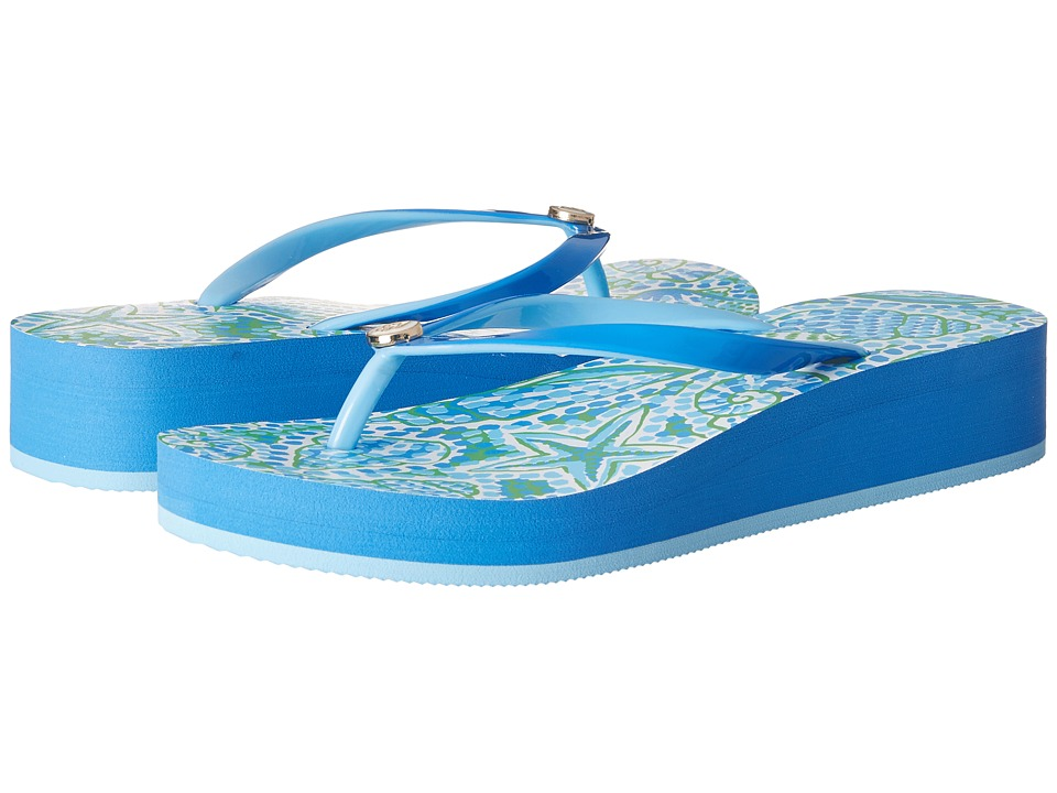 Hatley - Agnes Wedge Sandals (Green St.Barts) Women's Sandals