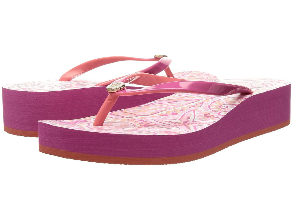 Hatley - Agnes Wedge Sandals (Coral St.Barts) Women's Sandals