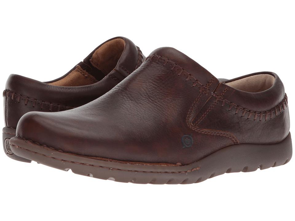 Born - Nigel Clog (Brown Full Grain Leather) Mens Clog Shoes