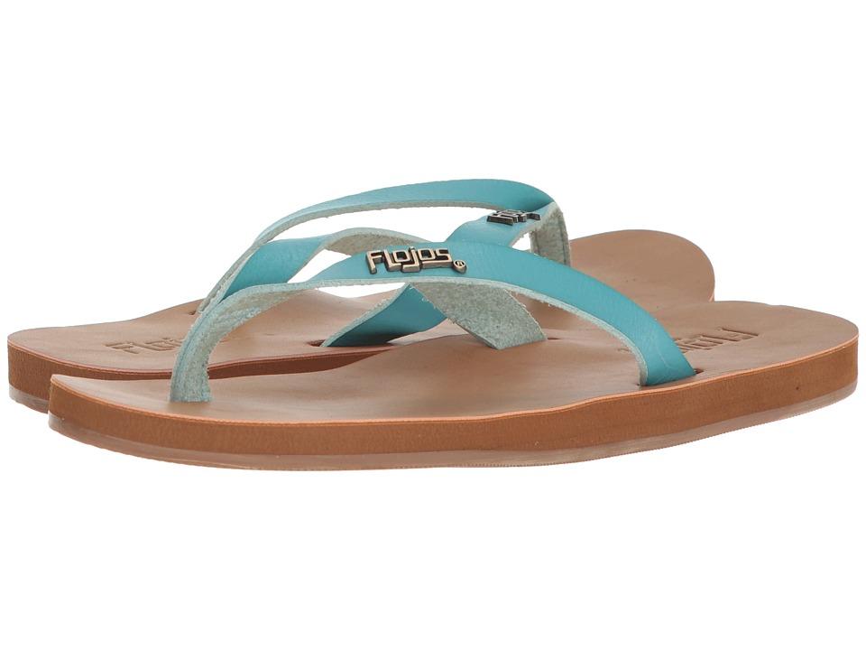 Flojos Luna (Aqua) Women's Toe Open Shoes