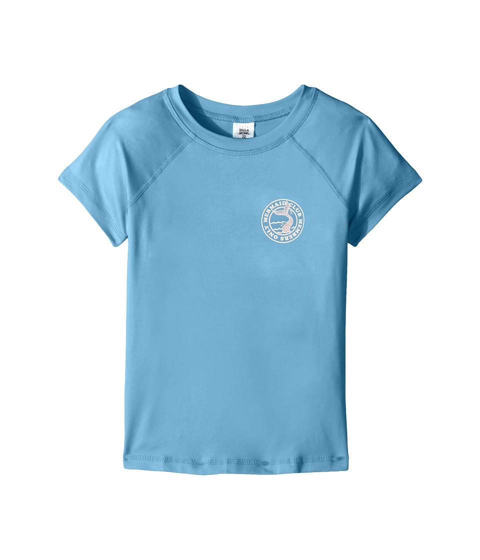 Billabong Kids Sol Searcher Short Sleeve Rashguard (Little Kids/Big Kids) (Powder Blue) Girl
