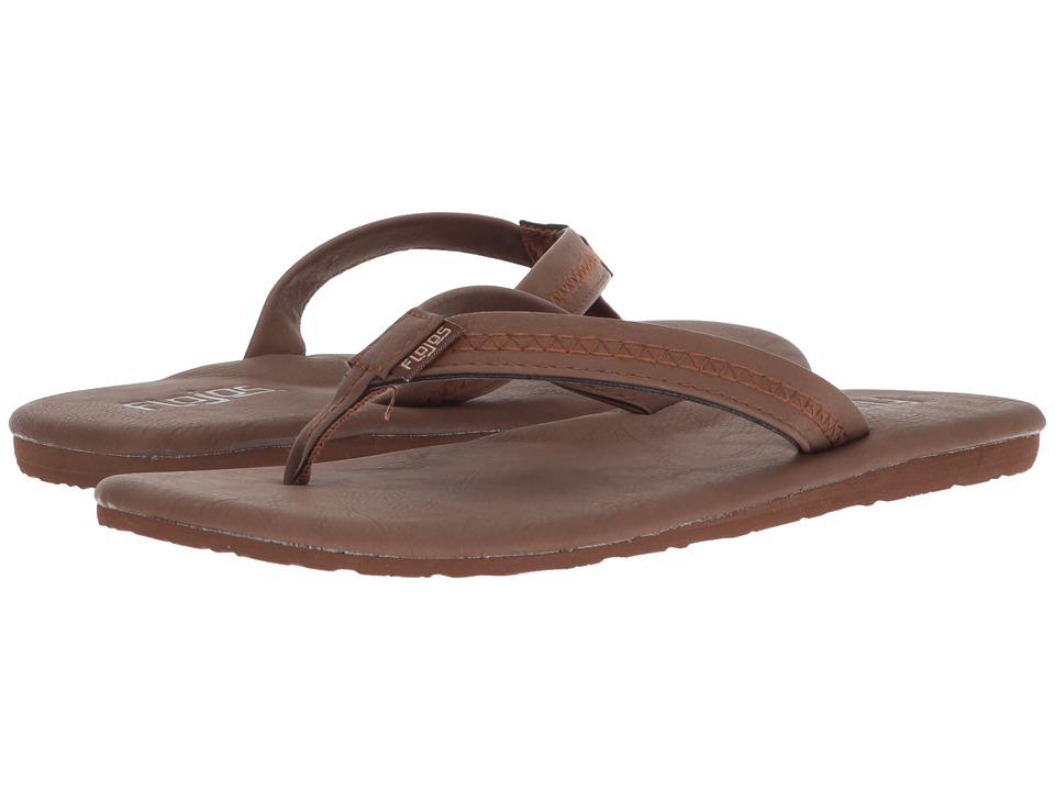 Flojos Claire (Rum) Women's Toe Open Shoes