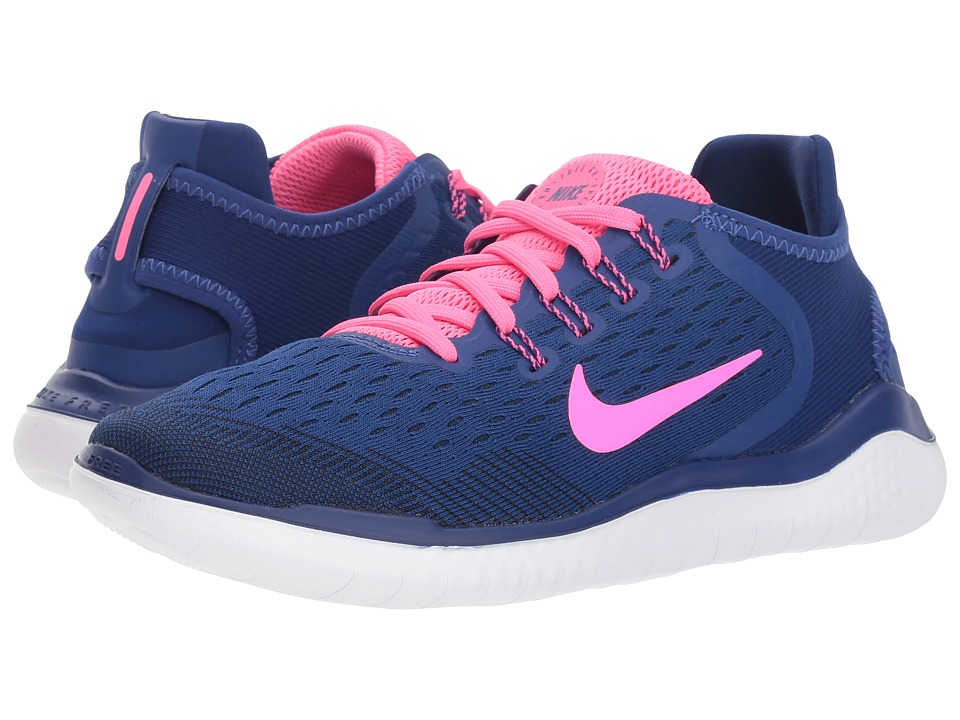 Nike Free RN 2018 (Deep Royal Blue/Pink Blast/Obsidian) Women's Running Shoes