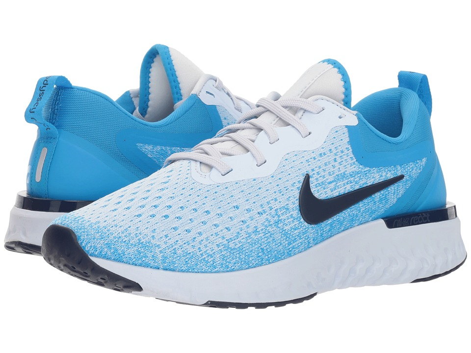 Nike Odyssey React (Football Grey/Blue Void/Blue Hero) Women's Running Shoes