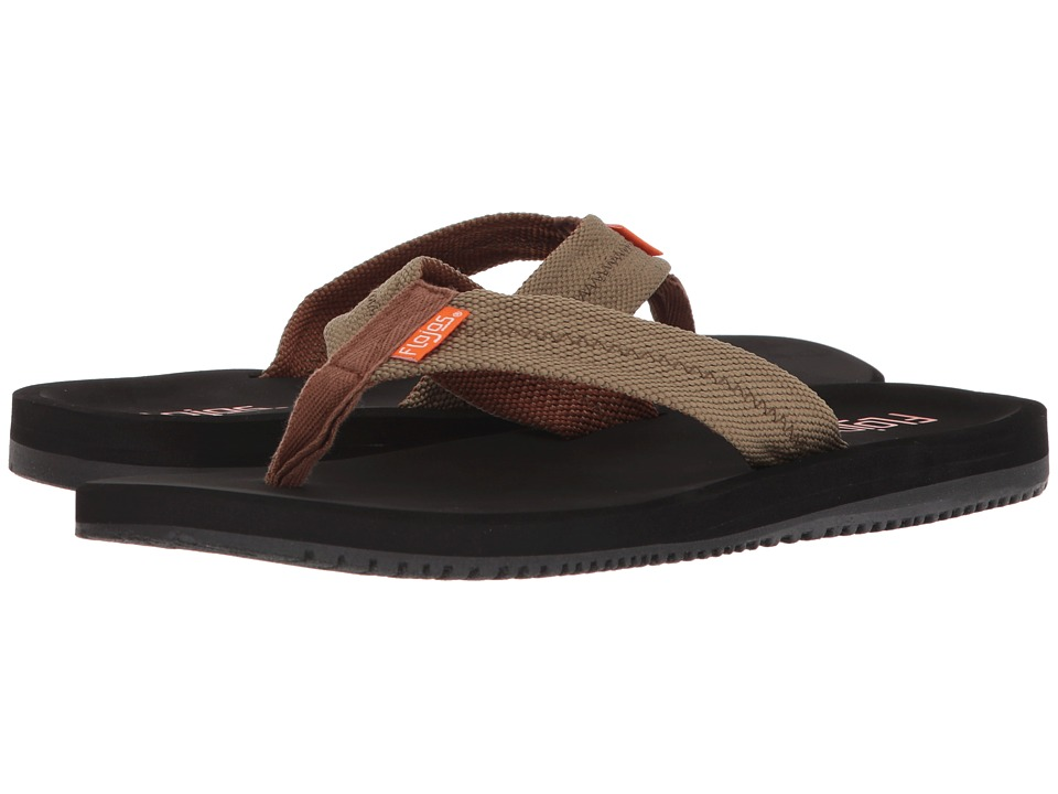 Flojos - Logan (Black/Olive) Mens Sandals