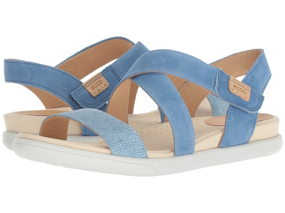 ECCO Damara Crisscross Sandal (Indigo 5/Indigo 7 Camel Nubuck) Sandals