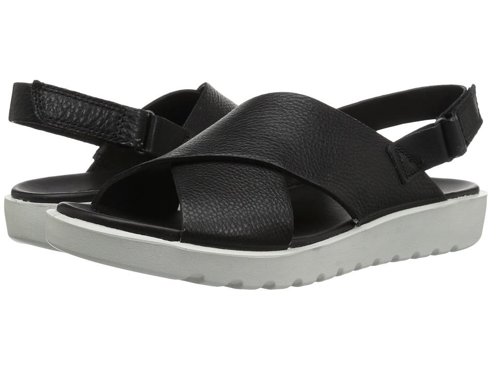 ECCO Freja Slide Sandal II (Black Cow Leather) Sandals