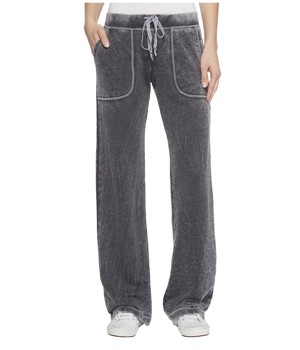 Allen Allen French Terry Long Cargo Pants (Black) Women