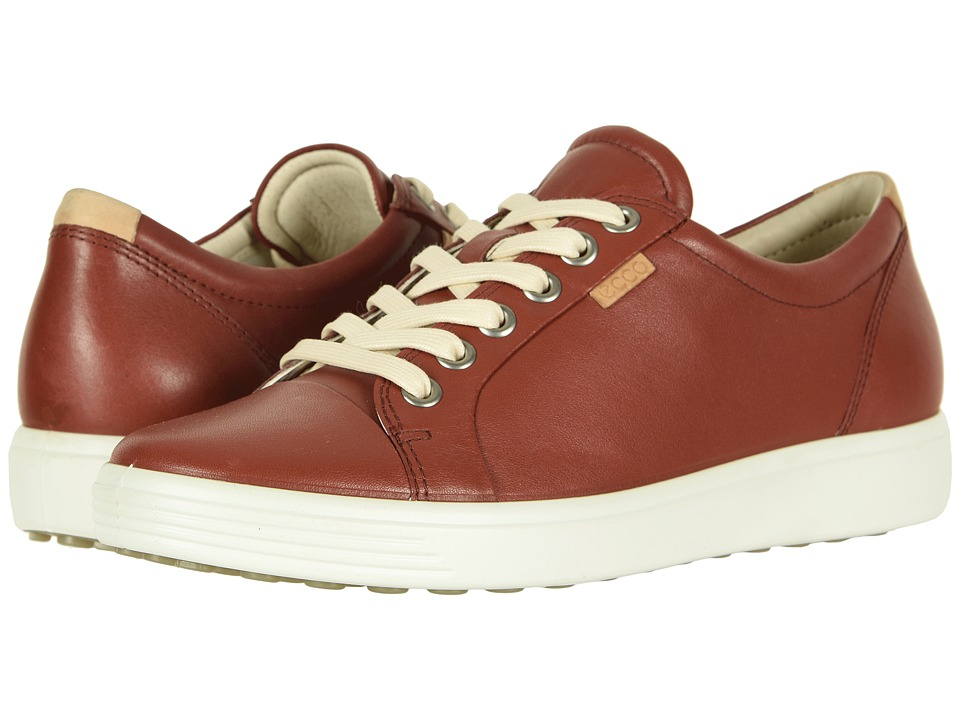 ECCO Soft 7 Sneaker (Fired Brick Cow Leather)