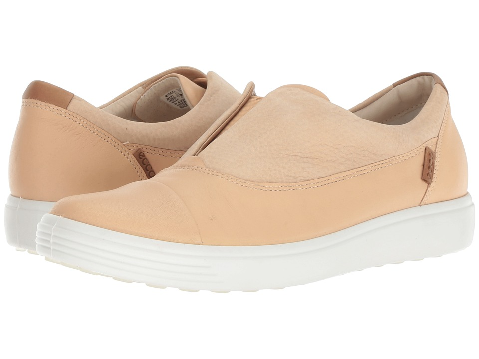 ECCO Soft 7 Slip-On II (Powder Cow Leather/Nubuck) Slip-On Shoes