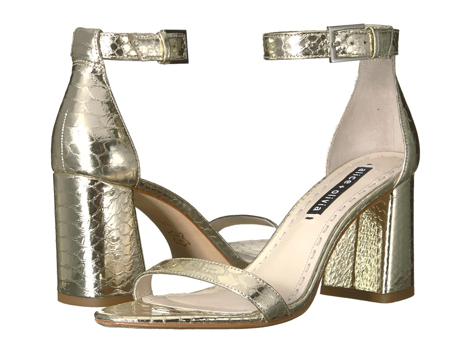 Alice + Olivia - Lillian (Light Gold) Womens Shoes