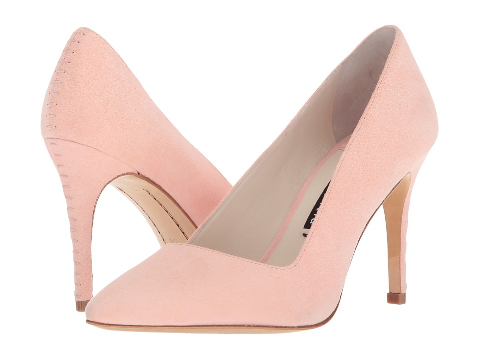 Alice + Olivia Dina 95 Suede (Perfect Pink) Women
