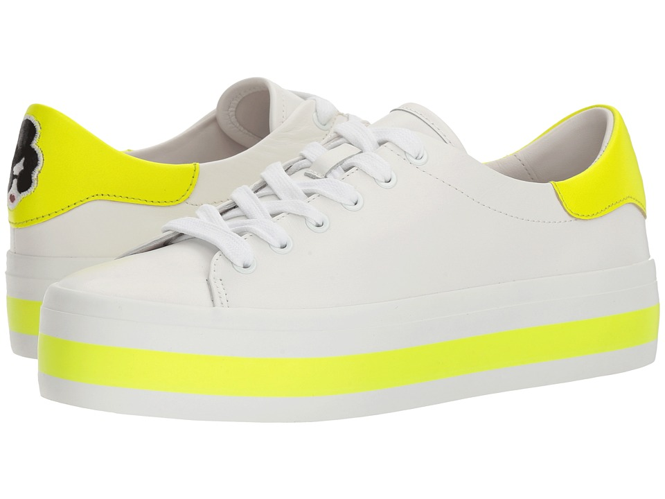 Alice + Olivia Ezra (Pure White/Neon Yellow) Women