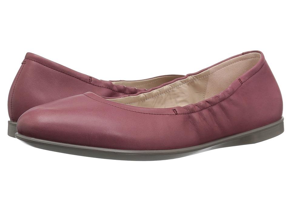 ECCO Incise Enchant Ballerina (Petal Trim Calf Leather) Flats