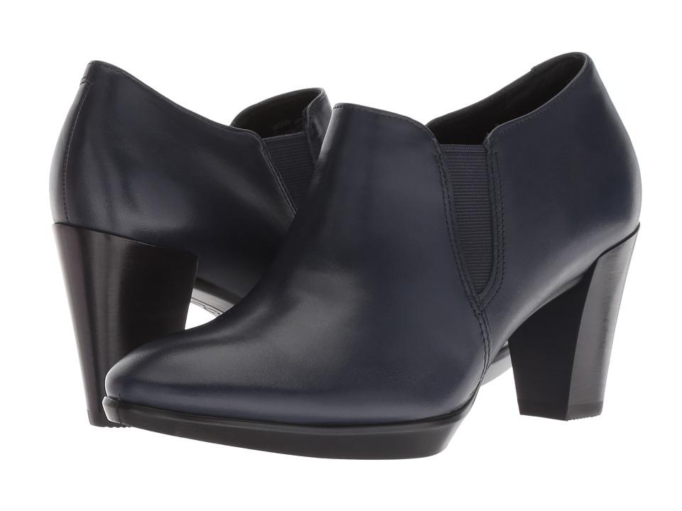 ECCO Shape 55 Plateau Stack Shootie (Night Sky Calf Leather) High Heels