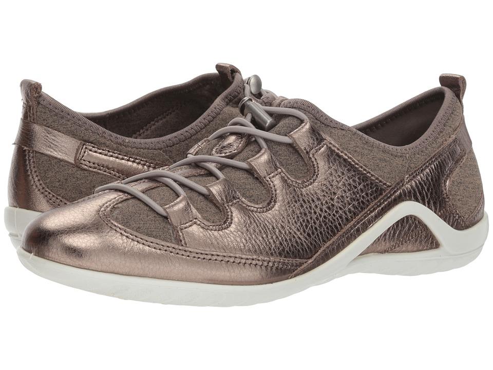 ECCO Vibration II Toggle (Stone Metallic/Navajo Brown/Black Cow Leather)