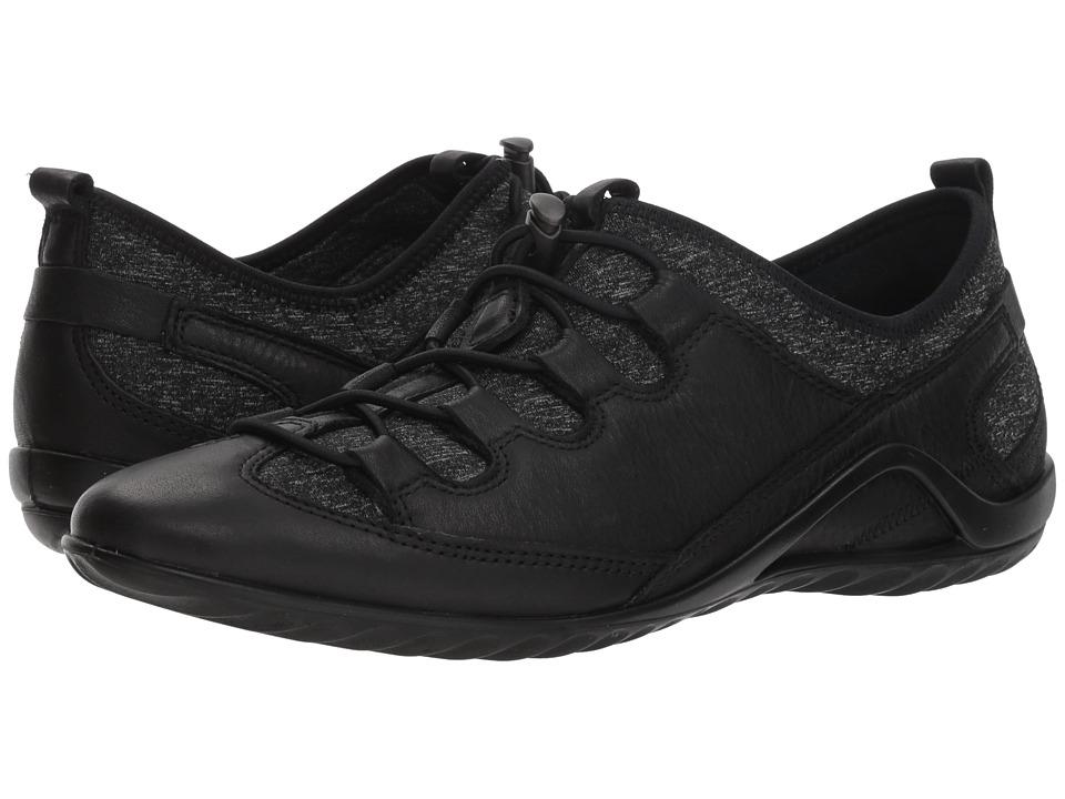 ECCO Vibration II Toggle (Black/Black/White Yak Leather)