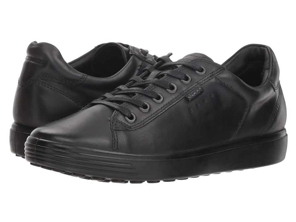 ECCO Soft Sneaker (Black Cow Nubuck 2)