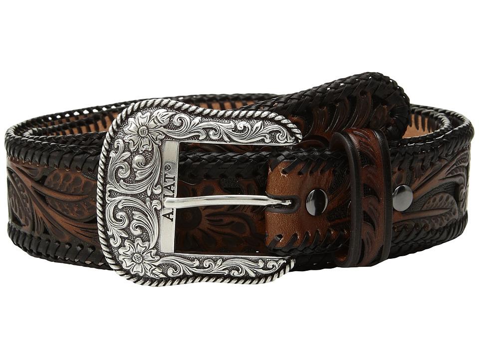 Ariat - Tapered Floral Pierced Belt