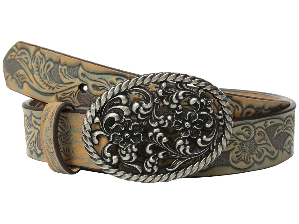 Ariat Floral Scroll with Oval Buckle Belt (Multi) Women