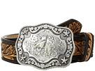 M&F Western Floral Embossed Horsehead Buckle Belt (Little Kids/Big Kids)