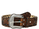 M&F Western Floral Embossed Turquoise Inlay Belt
