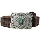 M&F Western Scroll Pierced Turquoise Cross Belt