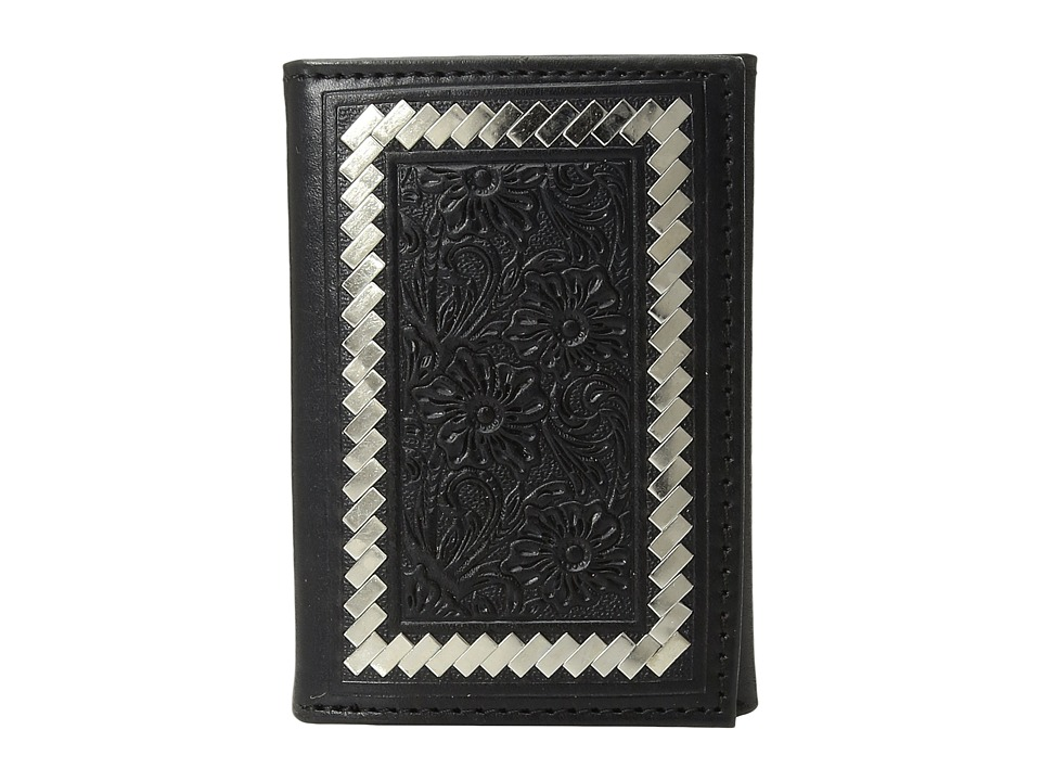 Ariat - Steel Lacing Tooled Trifold Wallet